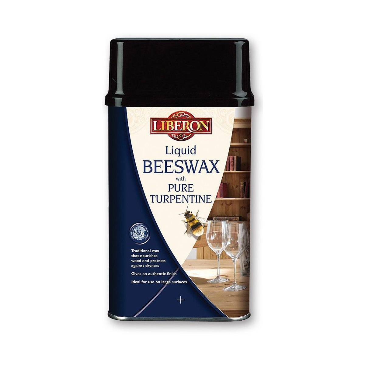 Liberon Liquid Beeswax with Pure Turpentine Antique Pine 1 Litre