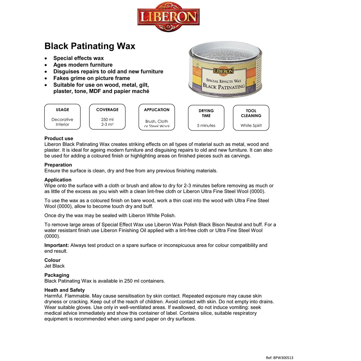 How to apply Liberon Special Effects Black Patinating Wax