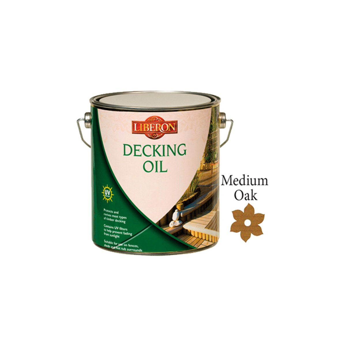 Liberon Decking Oil Medium Oak 2.5 Litre