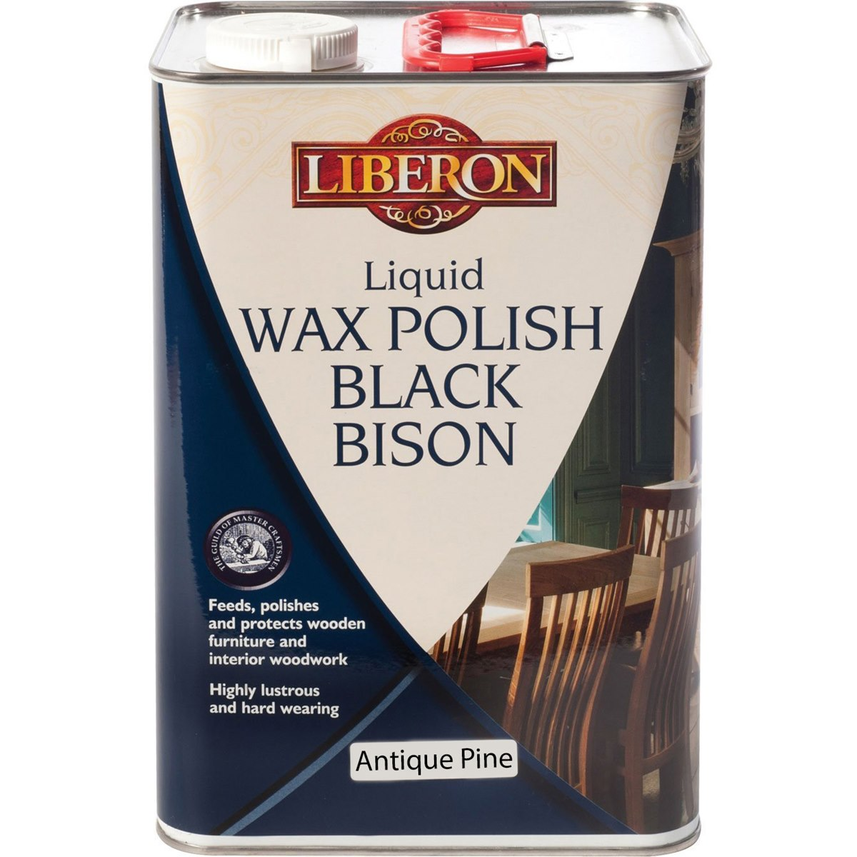 Liberon Black Bison Liquid Wax Antique Pine 5 Litre