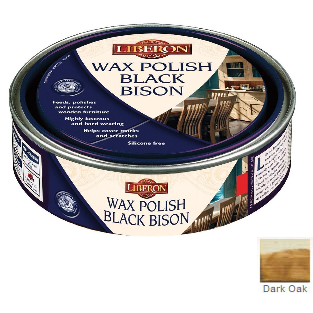 Liberon Black Bison Paste Wax Dark Oak 150ml