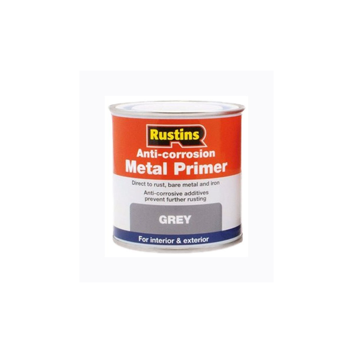 Rustins Anti-Corrosion Metal Primer Grey 250ml