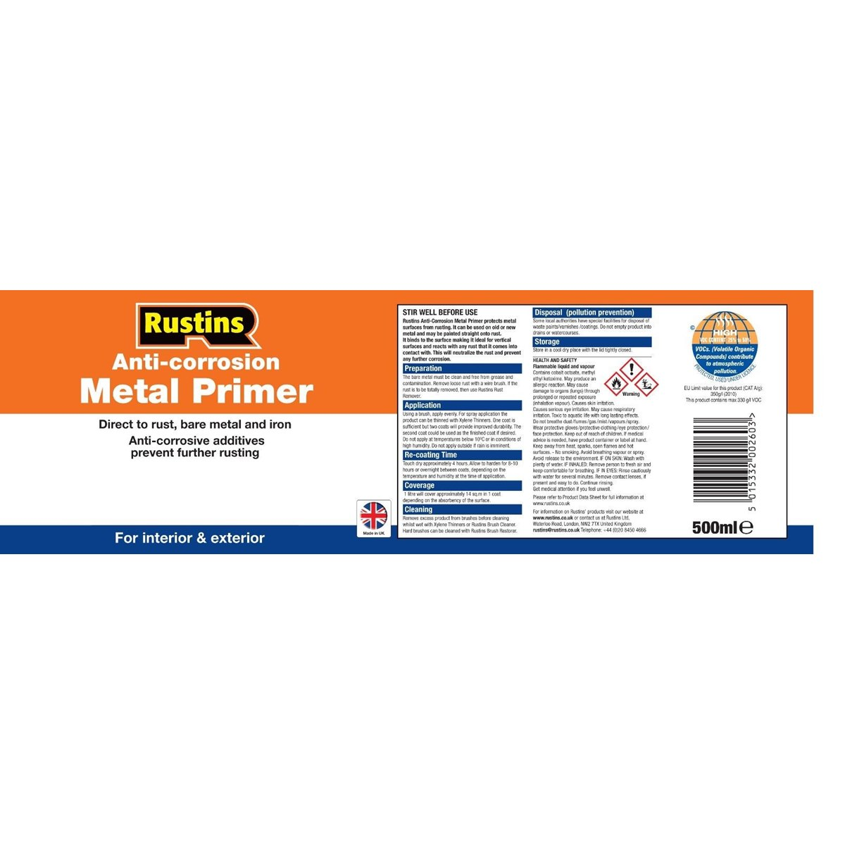 Where to Buy Anti-Corrosion Metal Primer