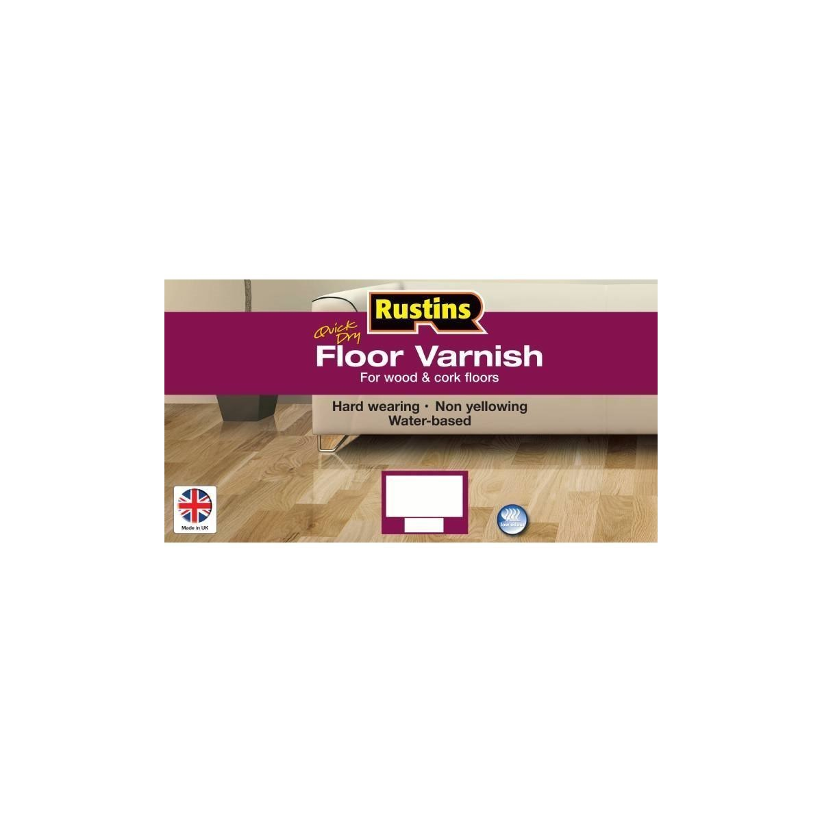 Rustins Quick Dry Floor Varnish Clear Satin