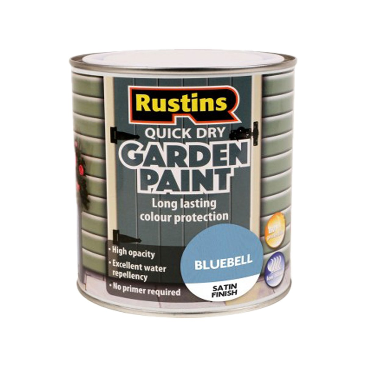 Rustins Quick Dry Garden Paint Satin Finish Bluebell