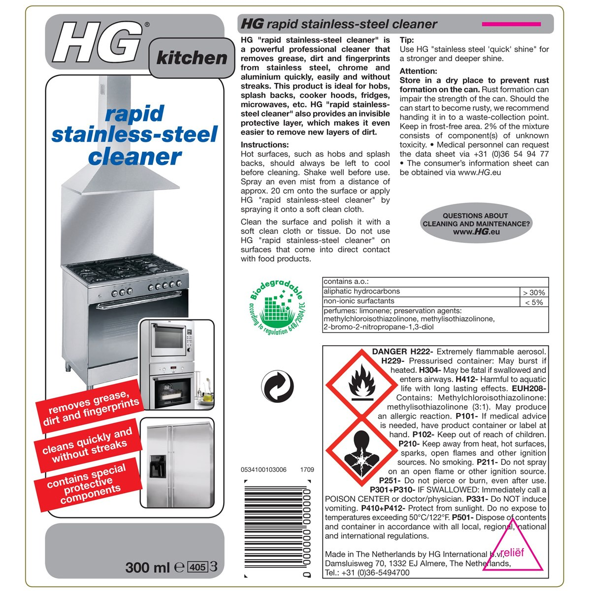 How to use HG Stainless Steel Cleaner Spray