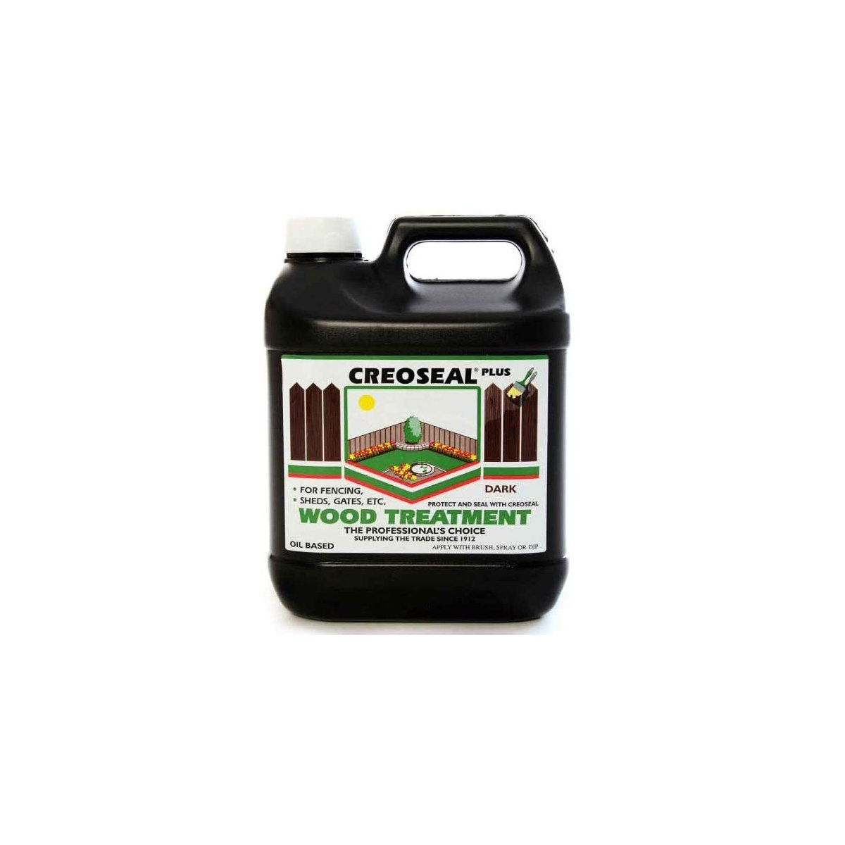 Creoseal Oil Based Timber Treatment Dark Brown 4 Litre