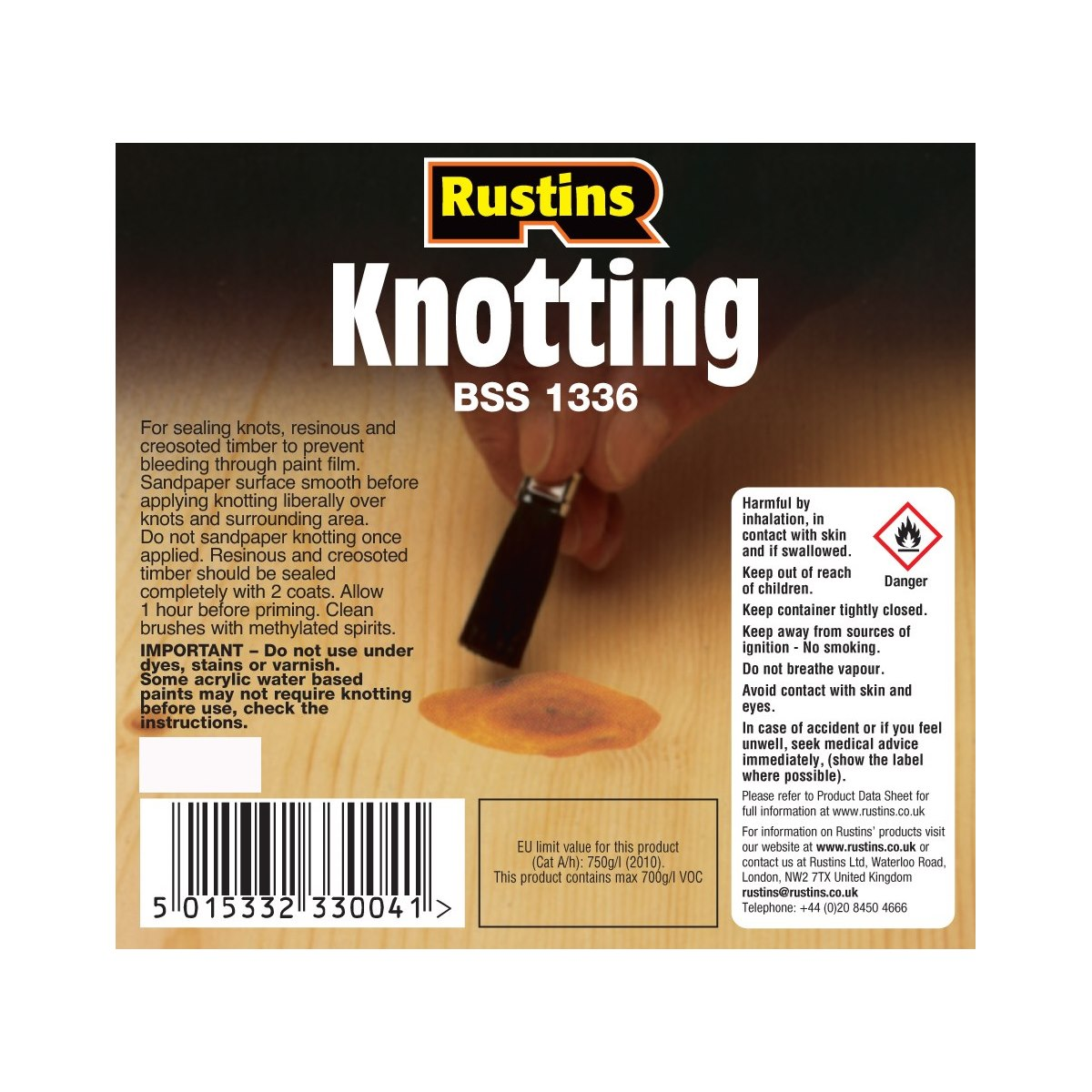 Rustins Knotting for sealing knots