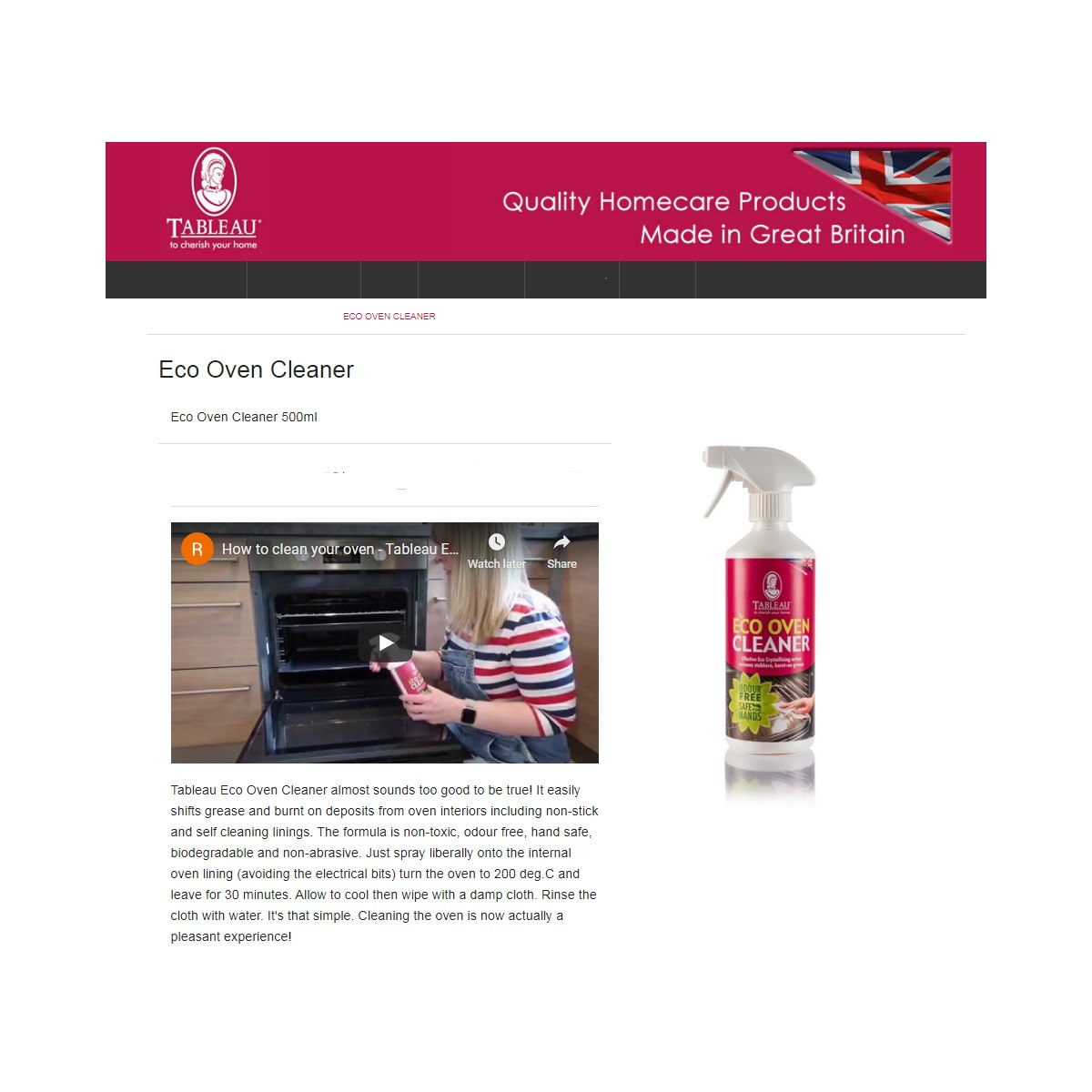 Eco Friendly Oven Cleaner