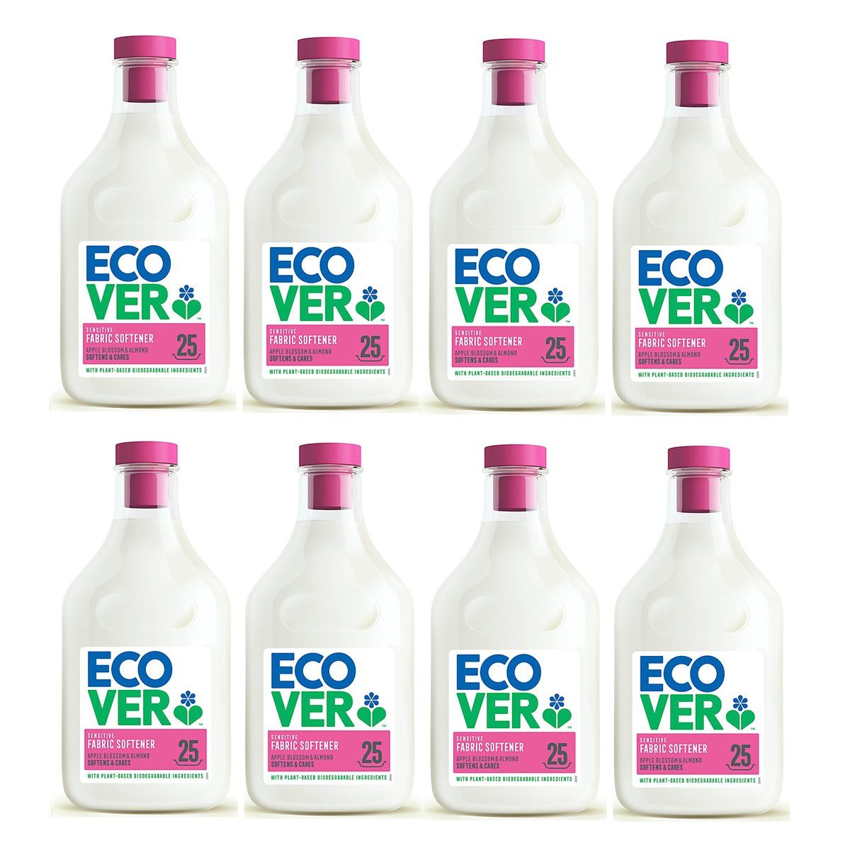 Case of 8 x Ecover Fabric Softener Apple Blossom and Almond Fragrance 750ml