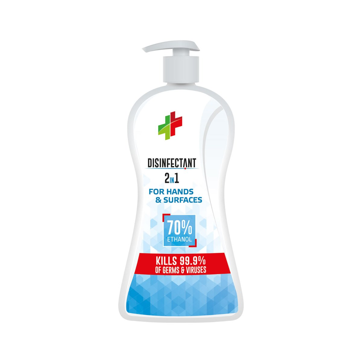 Tri-Bio 2 in 1 Disinfectant for Hands and Hard Surfaces. Hand Pump 840ml