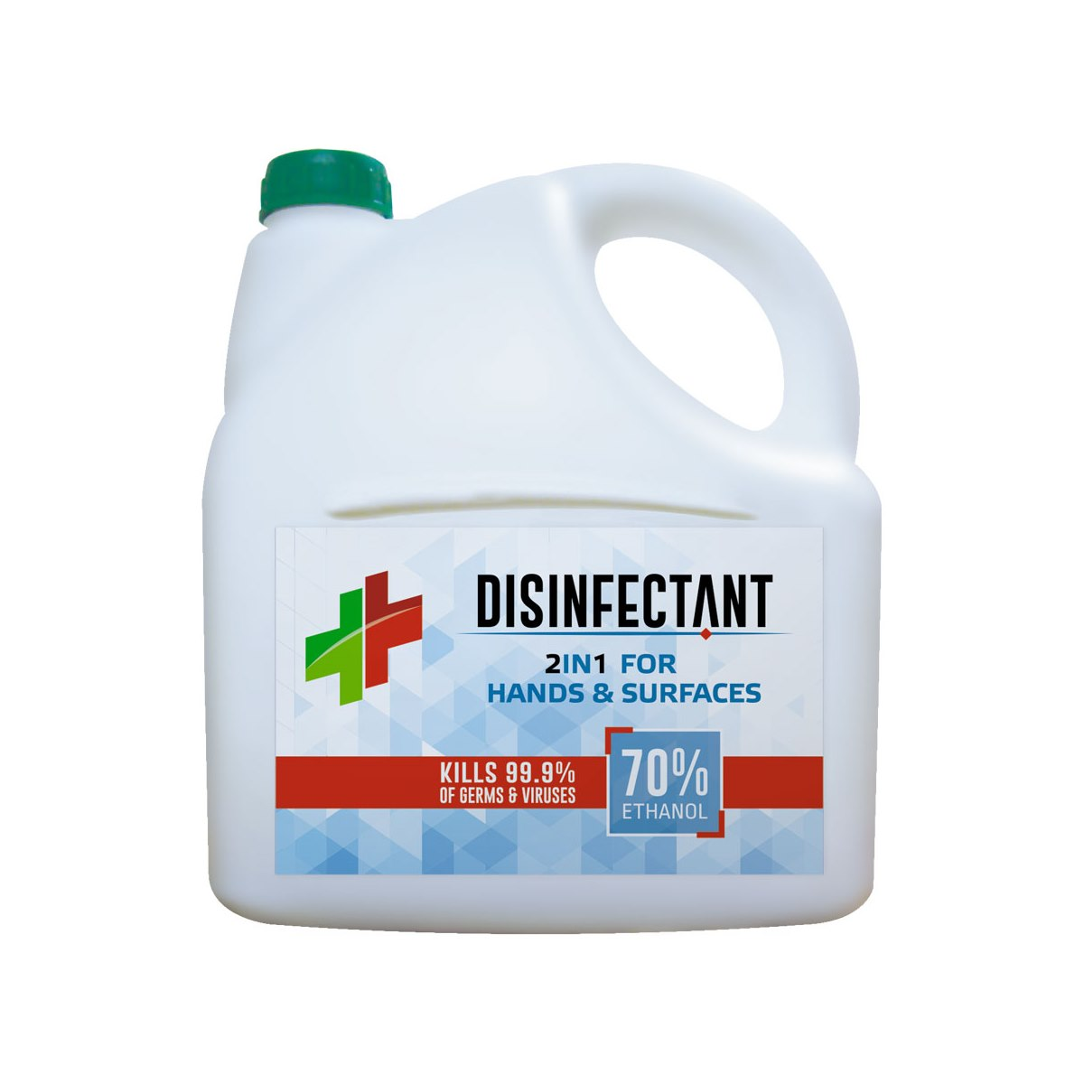 Tri-Bio 2 in 1 Disinfectant for Hands and Hard Surfaces. Refill 3 Litre
