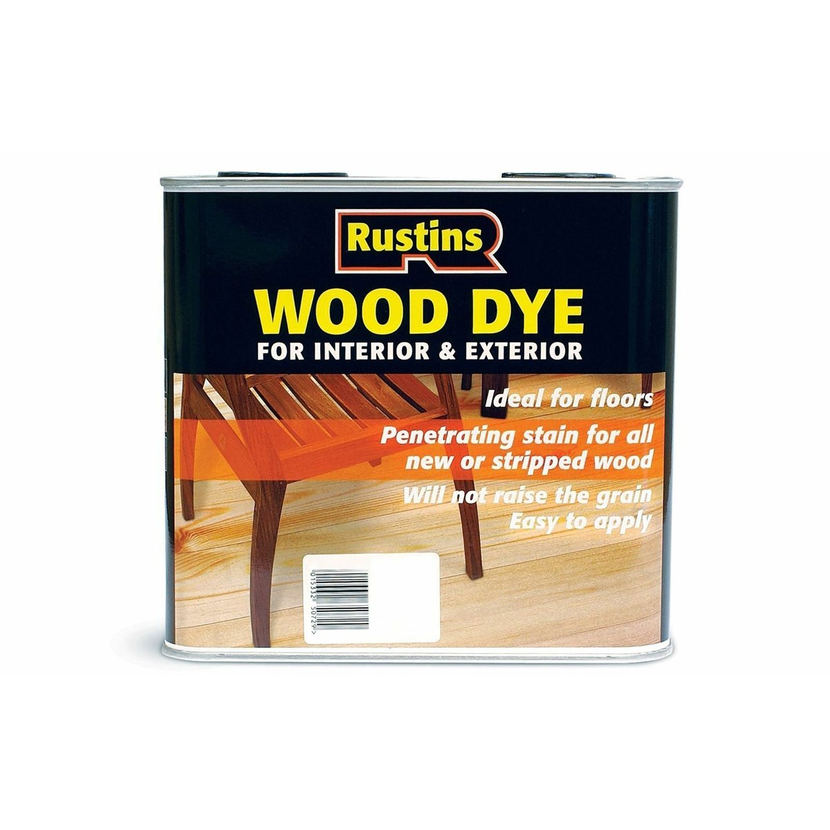 Rustins Quick Dry Water Based Wood Dye Grey 2.5 Litre