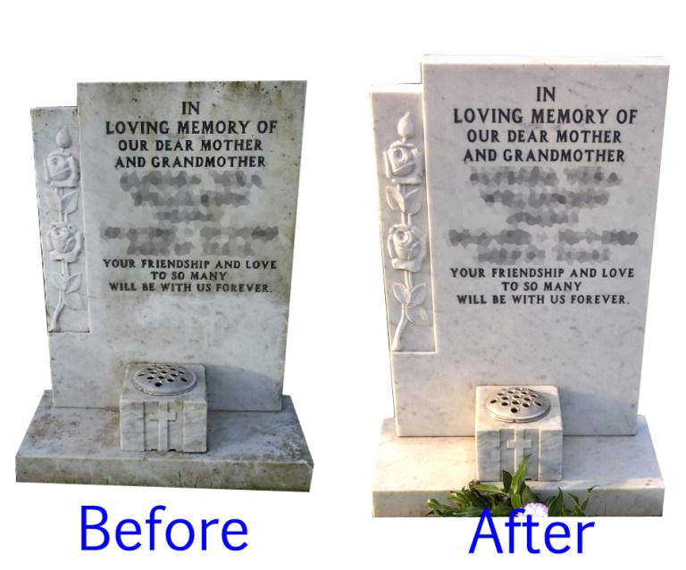 How to Clean a Dirty Headstone or Graves | Cleaning Tips | Homecare ...